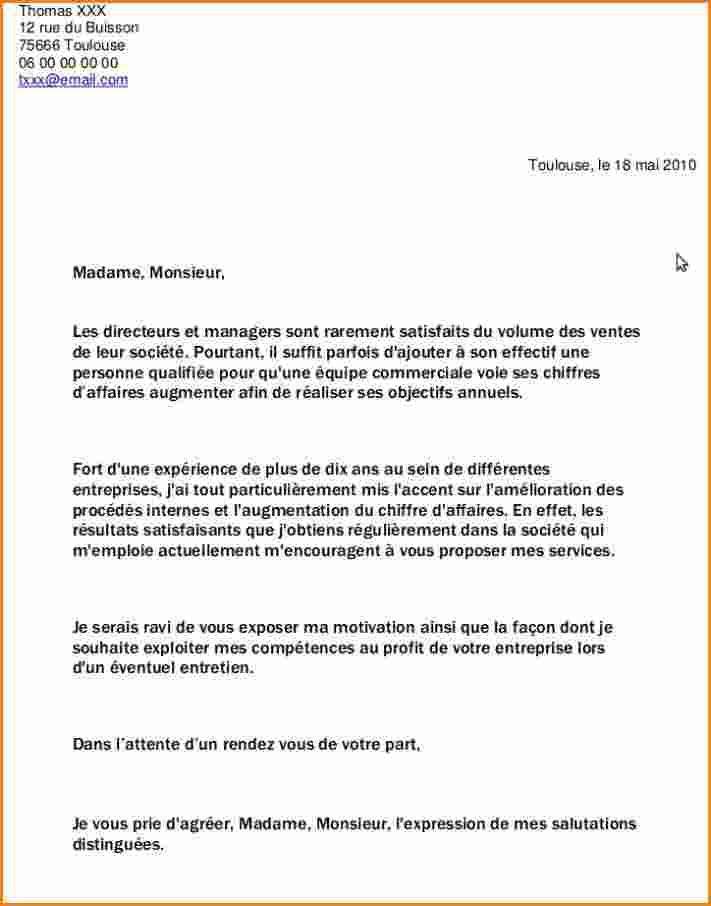 lettre demande travail