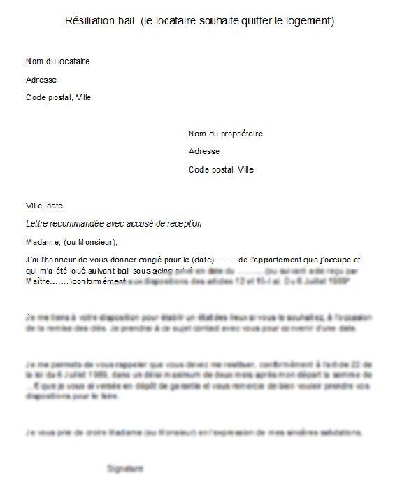 lettre desabonnement