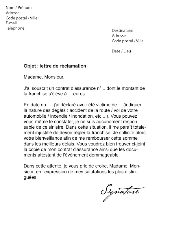 lettre excuse d absence
