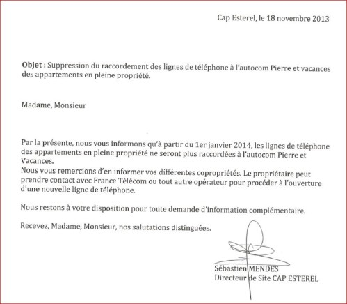 lettre information travaux appartement