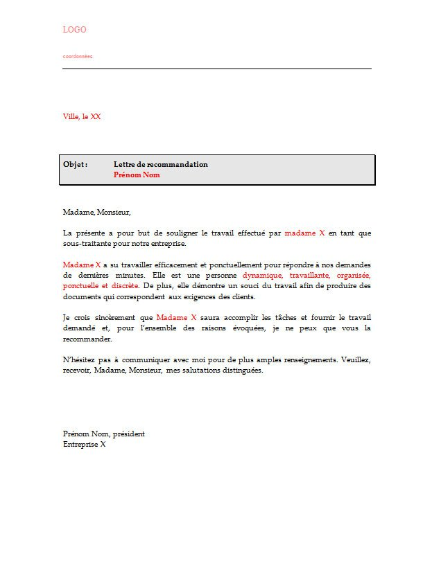 lettre intervention travaux