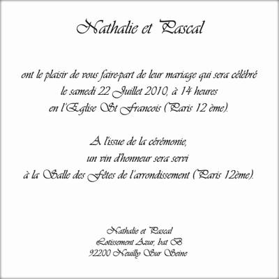 lettre invitation mariage