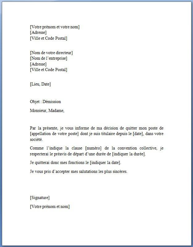 lettre modelle