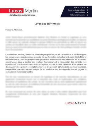 lettre motivation achat