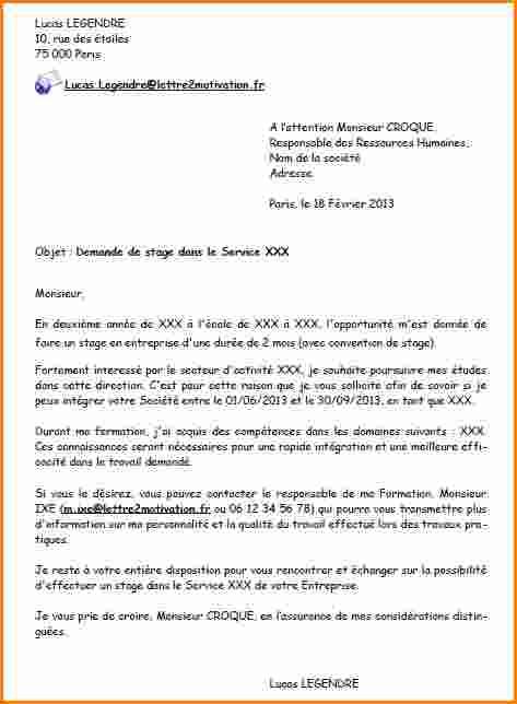 lettre motivation administration