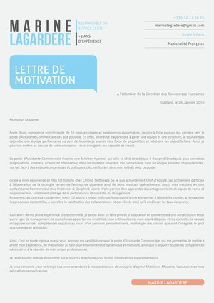 lettre motivation cv