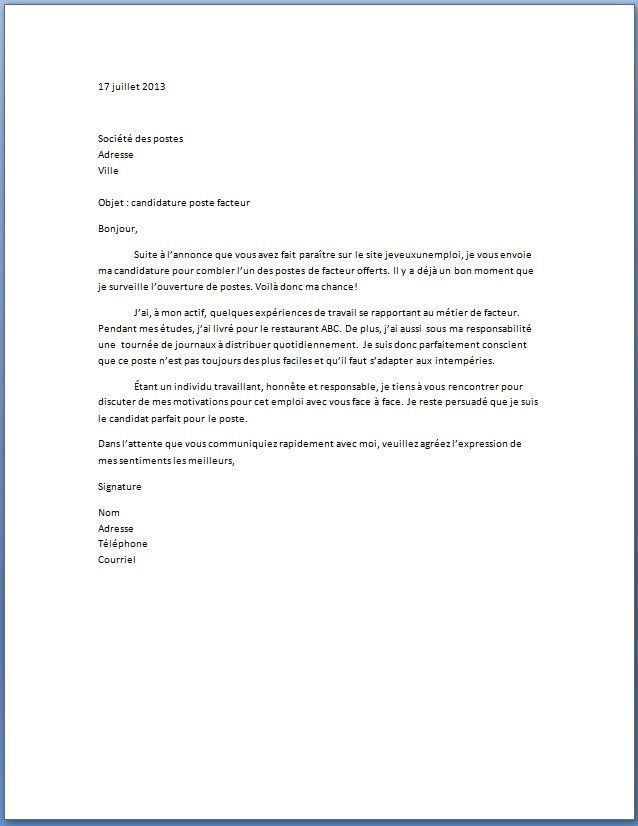 lettre motivation pour hotesse d accueil