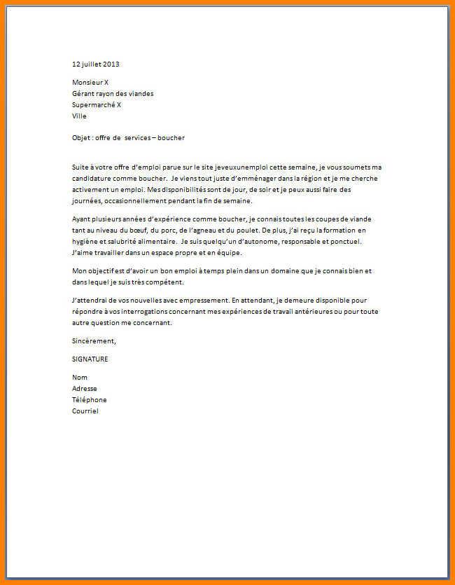 lettre motivation supermarche