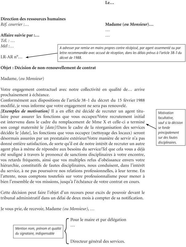 lettre non reconduction contrat assurance