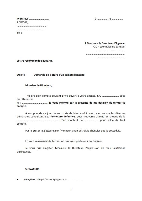 lettre pour litiges