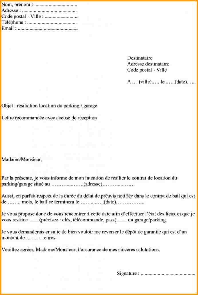 exemple de lettre de resiliation d u0026 39 abonnement