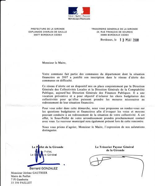 lettre pour prefecture
