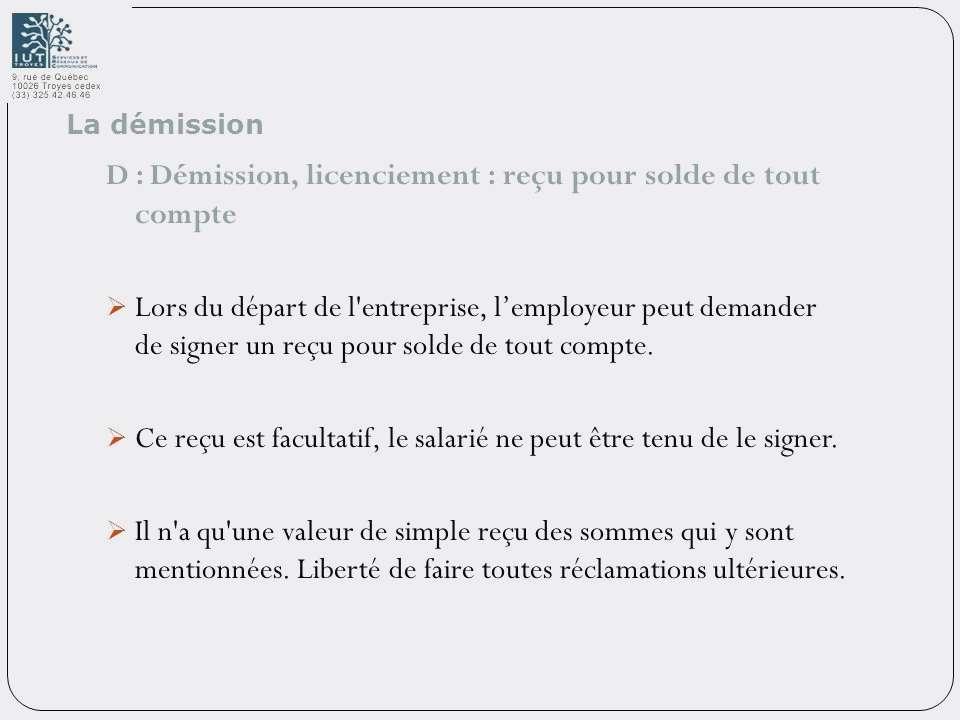 Lettre Pour Reclamer Solde De Tout Compte Modele De Lettre Type