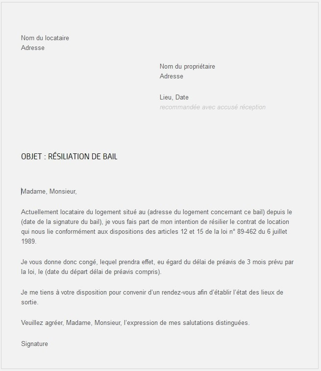 lettre preavis loi alur