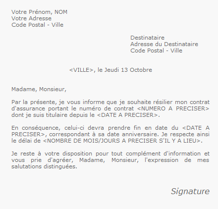 lettre radiation mutuelle