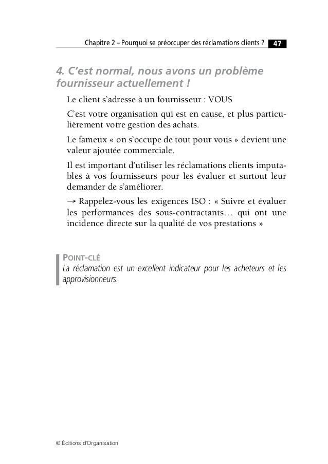 lettre reclamation client