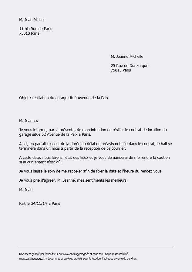 lettre reclamation garage