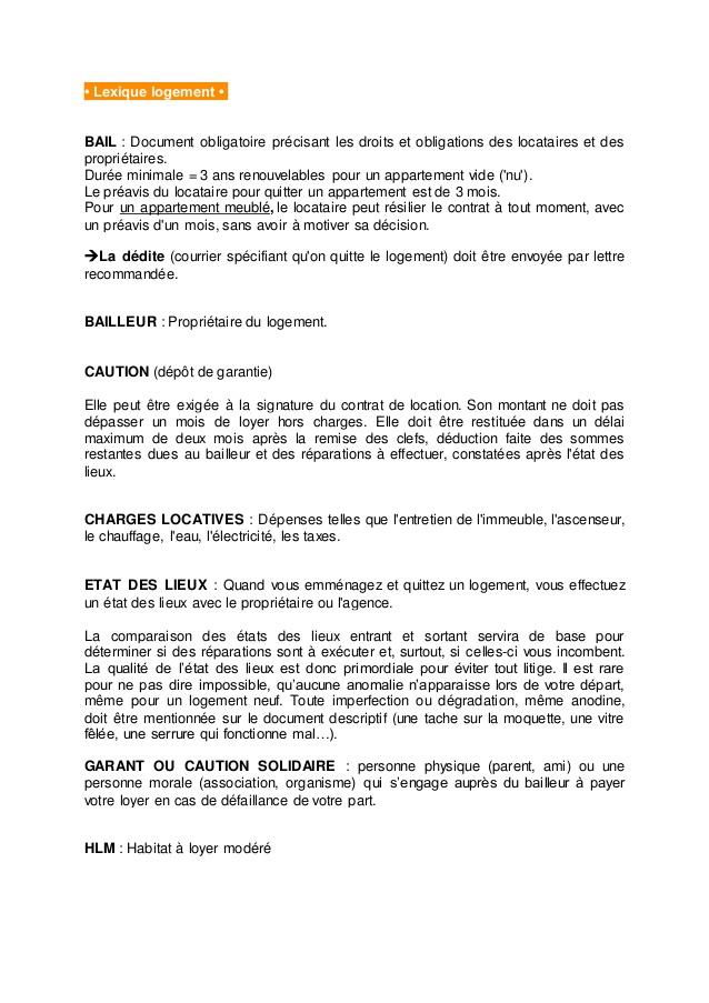 lettre recommandation logement