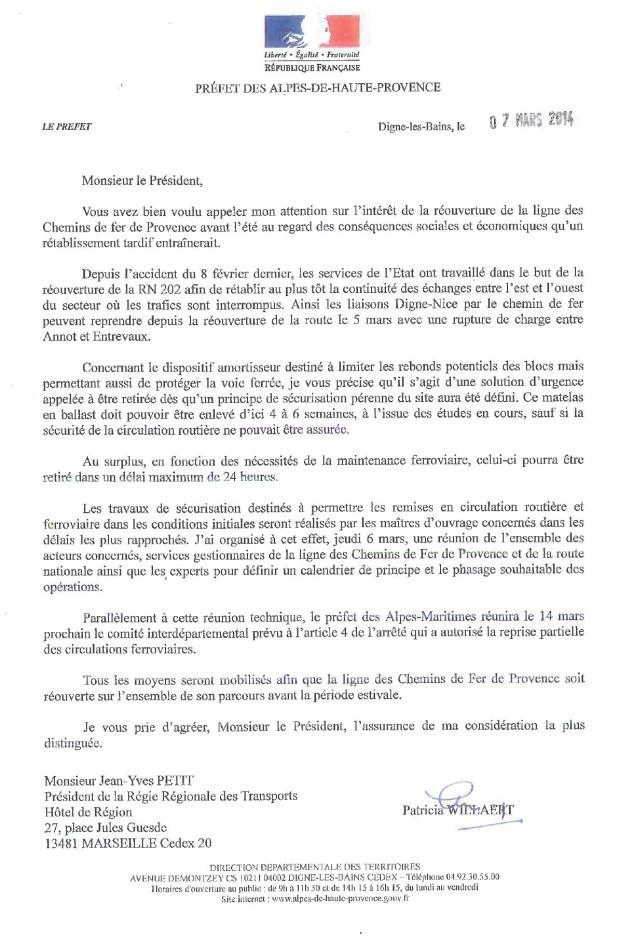lettre regie