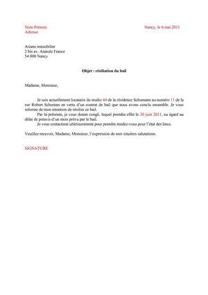 lettre renom bail