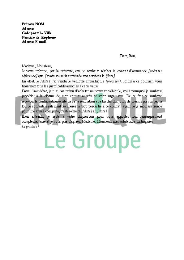 lettre resiliation contrat de construction