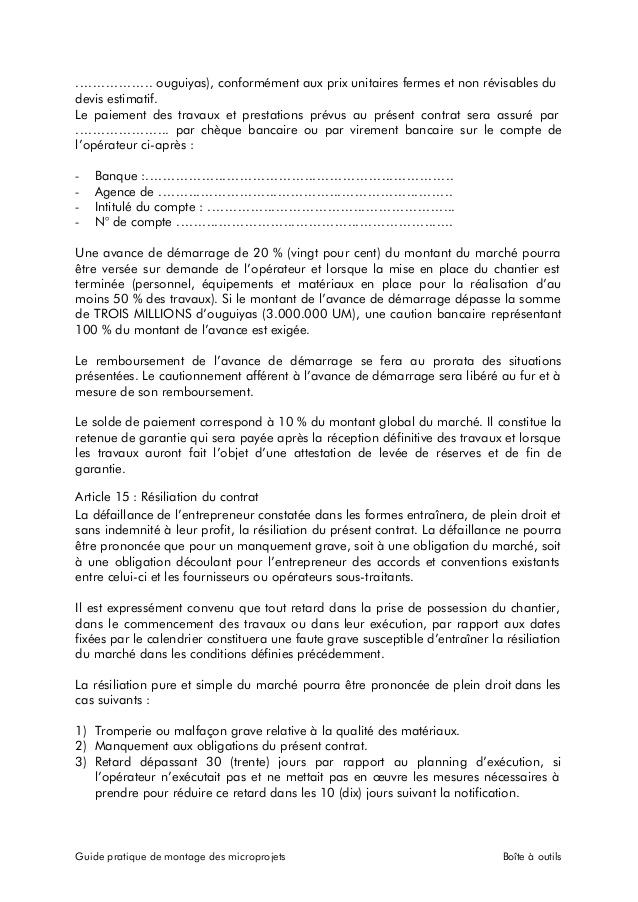 lettre resiliation contrat de construction - Modele de lettre type