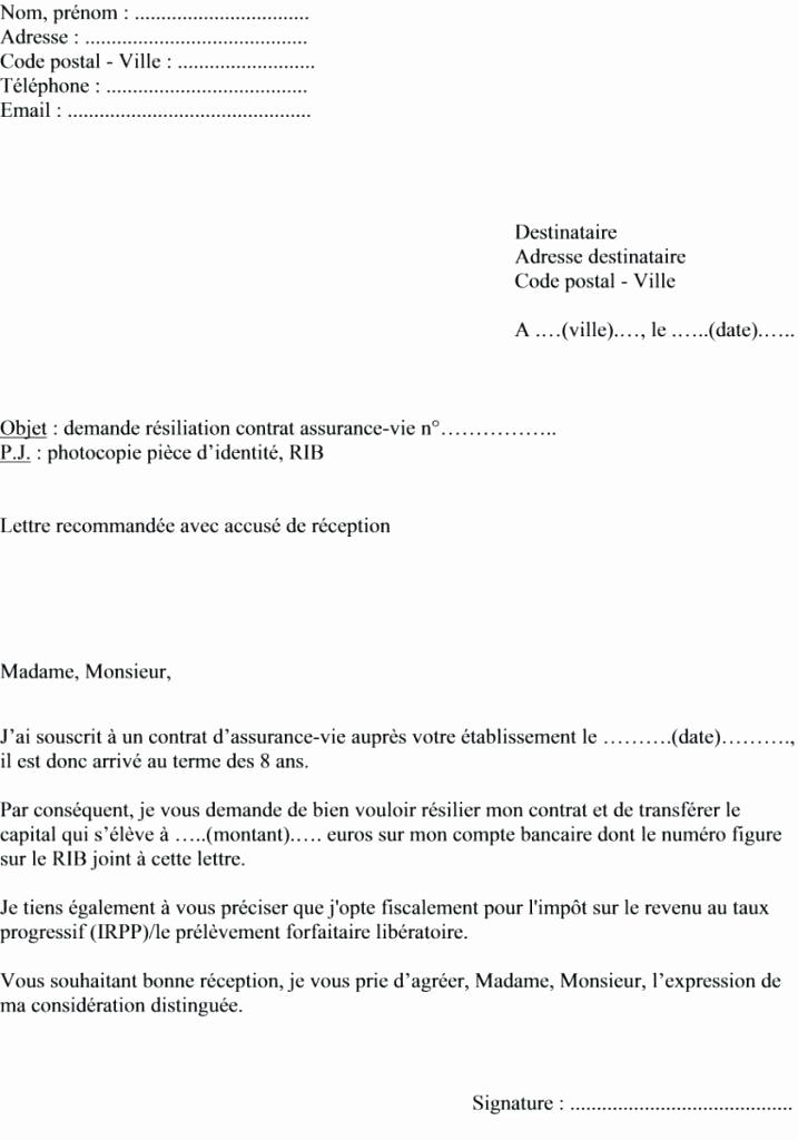 lettre resiliation de bail 1 mois preavis - Modele de lettre type