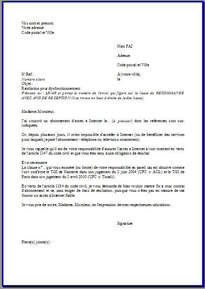 lettre resiliation internet orange demenagement
