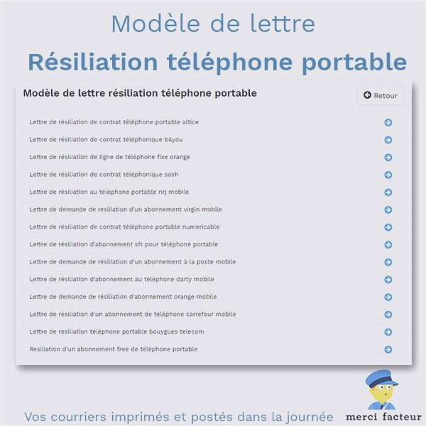 lettre resiliation telephone portable bouygues