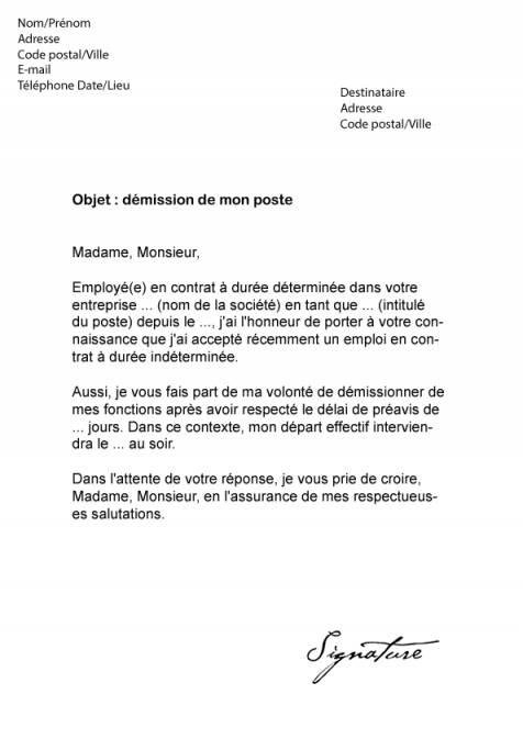lettre rupture cdd salarie