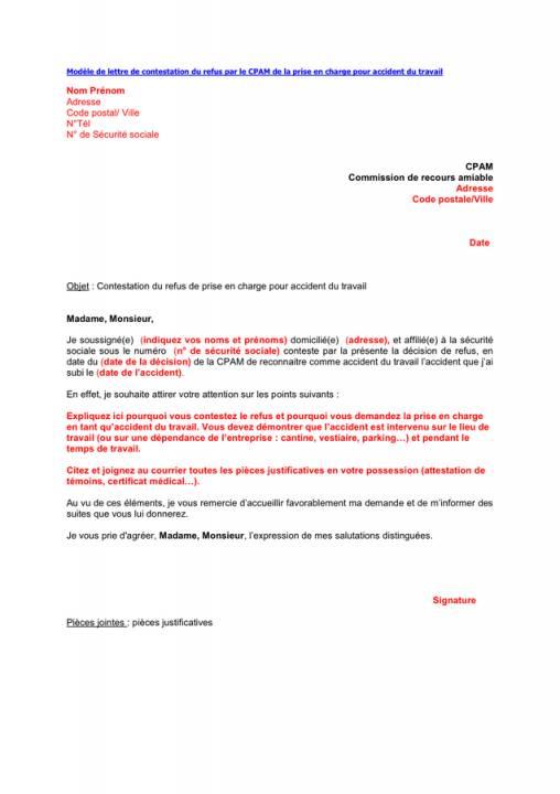 Lettre Securite Sociale Contestation Modele De Lettre Type