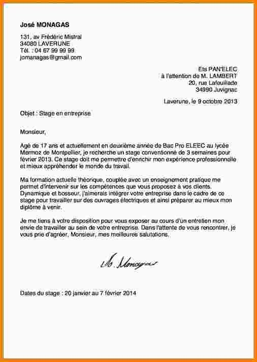 lettre type courrier