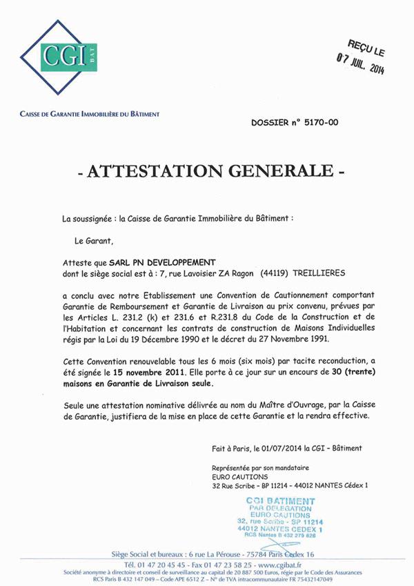 lettre type garantie decennale
