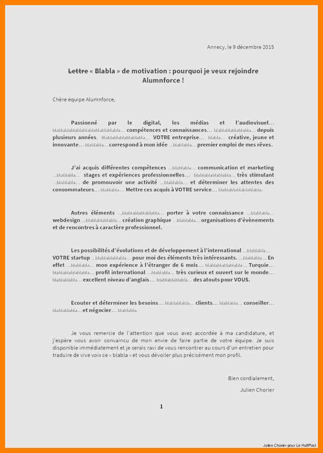 lettre type pour demande de changement de classe