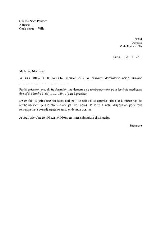 lettre type pour reclamation remboursement