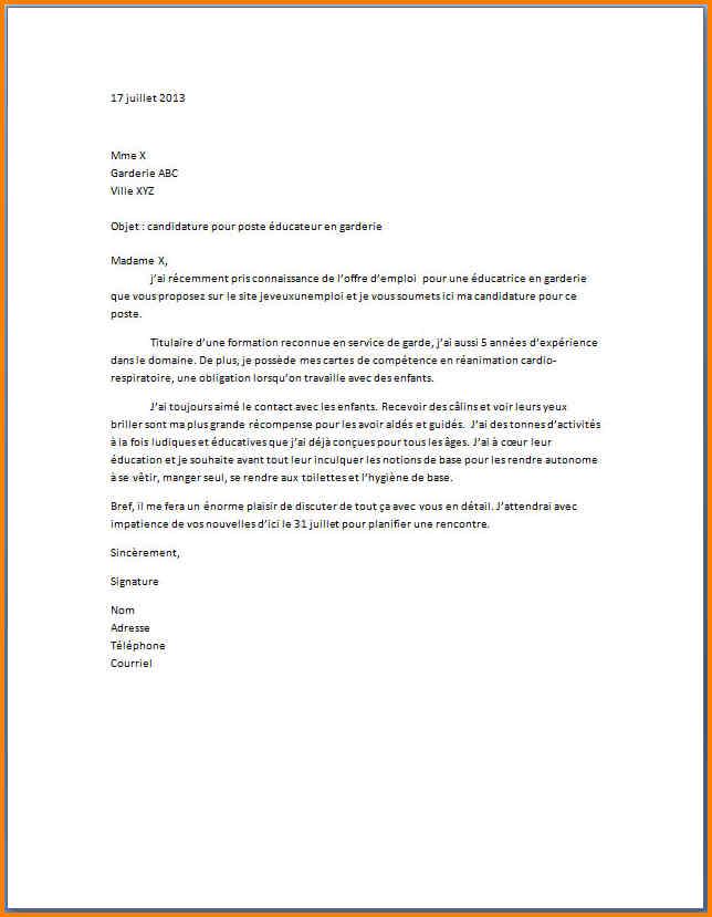 lettre type resiliation creche