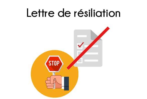 lettre type resiliation portable