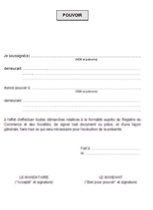 lettres de procuration
