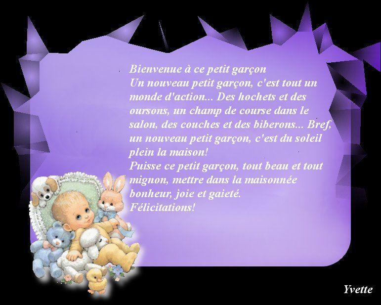 lettres felicitation naissance