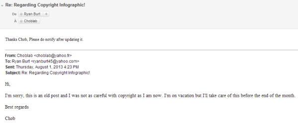 mail de demande de conge