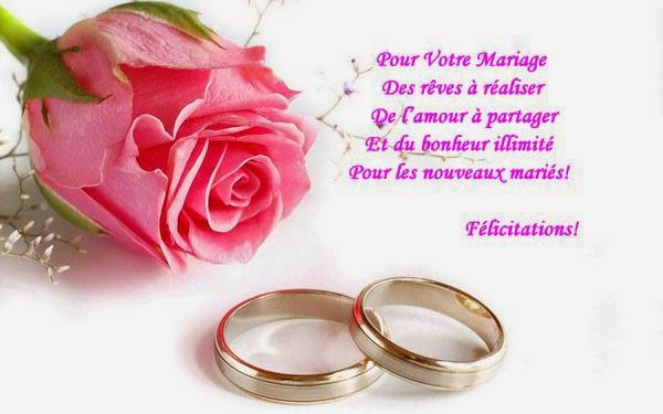mariage felicitations modele