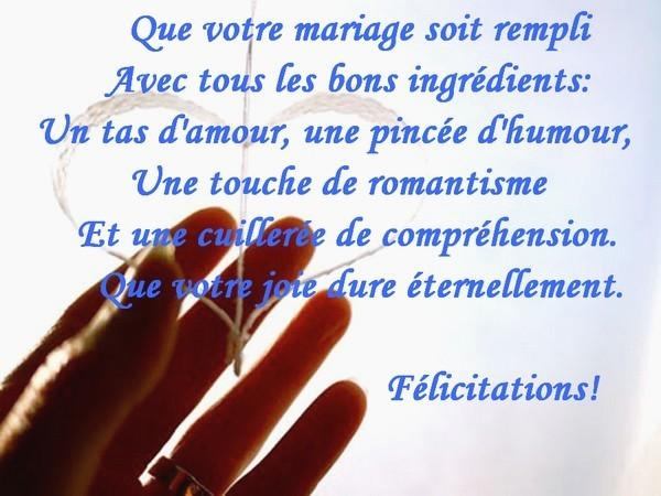 mariage felicitations texte - Modele de lettre type