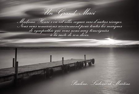 message de remerciement apres deuil