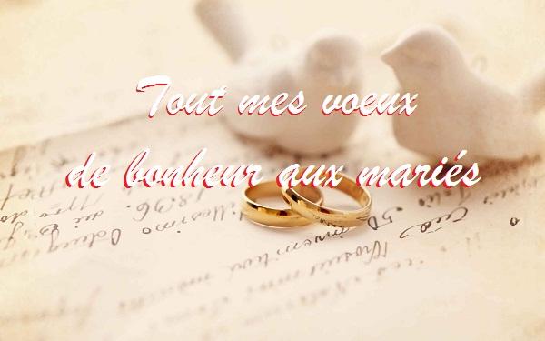 message pour feliciter les maries