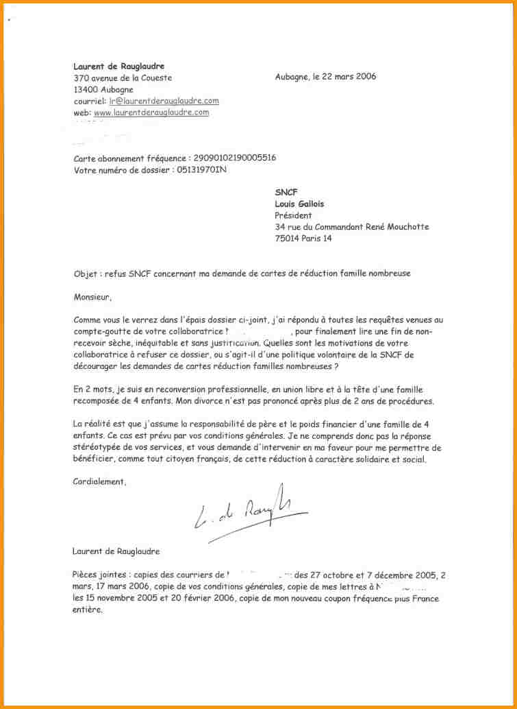 model de lettre administrative