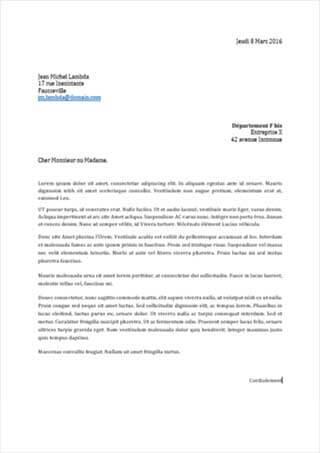 model de lettre d opposition