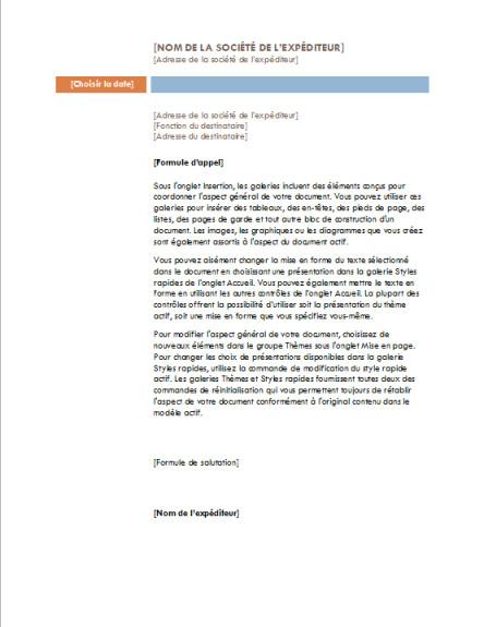 model lettre banque