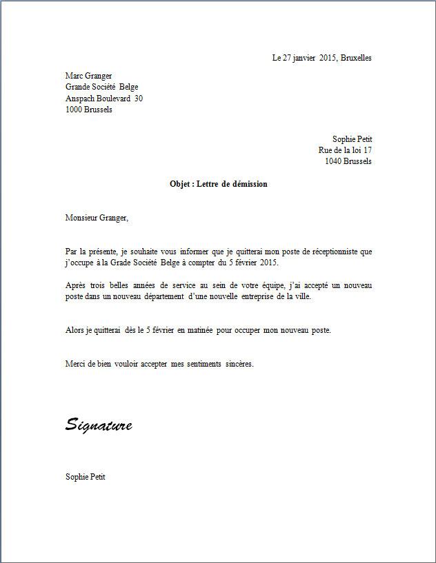 model lettre