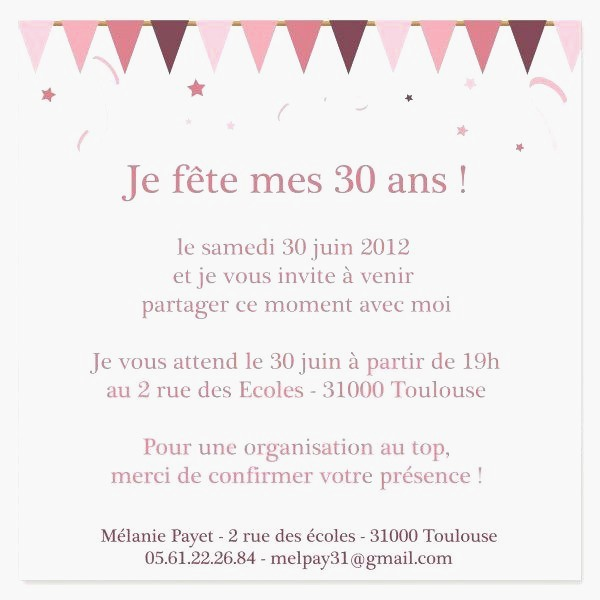 model texte invitation anniversaire