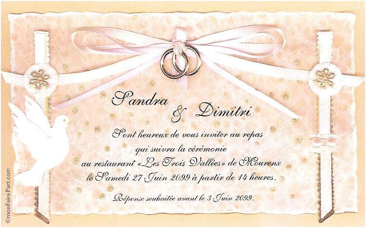 modele carte d invitation mariage gratuit - Modele de lettre type